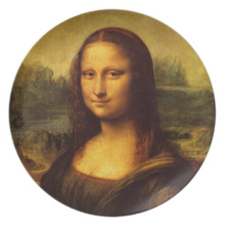 Leonardo Da Vinci Mona Lisa Fine Art Painting Plate