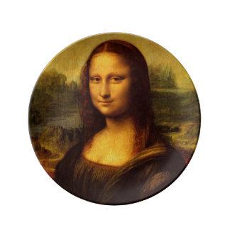 Leonardo Da Vinci Mona Lisa Fine Art Painting Porcelain Plate