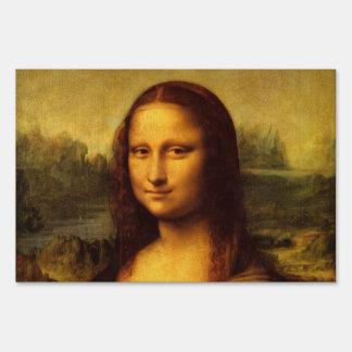 Leonardo Da Vinci Mona Lisa Fine Art Painting Sign