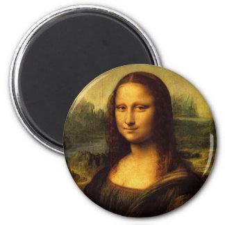 Leonardo da Vinci Mona Lisa Imán Redondo 5 Cm