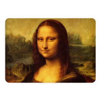 "Leonardo da Vinci Mona Lisa 5"" X 7"" Invitation Card"