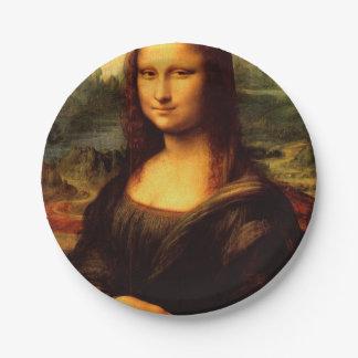 LEONARDO DA VINCI - Mona Lisa, La Gioconda 1503 Paper Plate