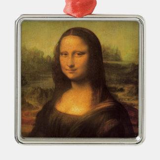 Leonardo Da Vinci' Mona Lisa Metal Ornament
