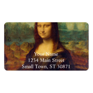 Leonardo da Vinci, Mona Lisa Painting Double-Sided Standard Business Cards (Pack Of 100)