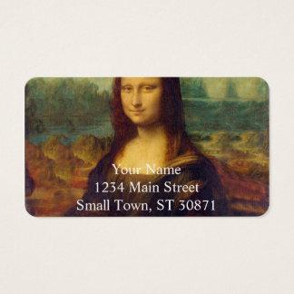 Leonardo da Vinci, Mona Lisa Painting Business Card