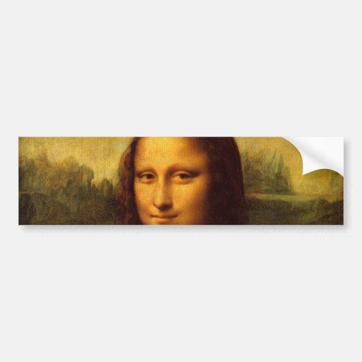 Leonardo da Vinci Mona Lisa Pegatina De Parachoque