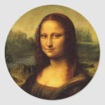Leonardo da Vinci Mona Lisa Pegatina Redonda