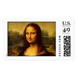 Leonardo da Vinci Mona Lisa Postage Stamps