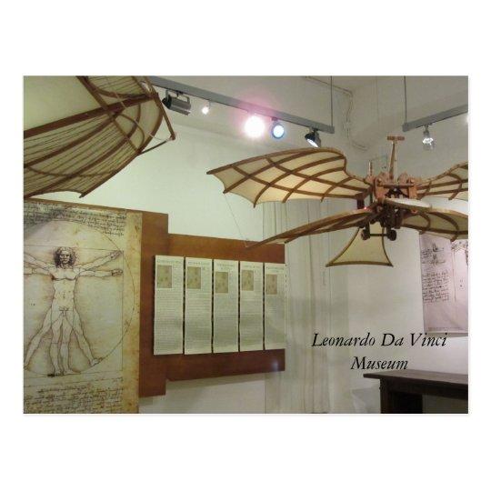 Leonardo Da Vinci Museum Pieces Postcard