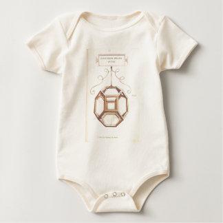 Leonardo da Vinci Octahedron Baby Bodysuit