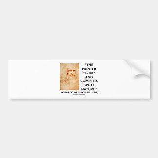 Leonardo da Vinci Painter Strives Competes Nature Bumper Sticker