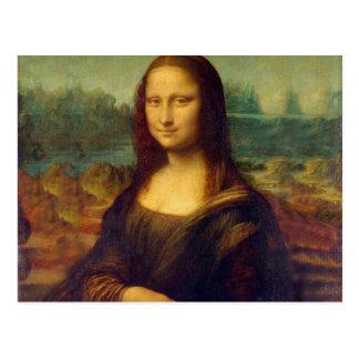 Leonardo da Vinci, pintura de Mona Lisa Postal