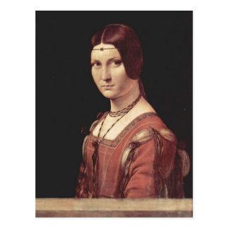 Leonardo da Vinci Portr?t einer jungen Frau (La be Postcard