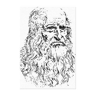 Leonardo Da Vinci Portrait Canvas Prints
