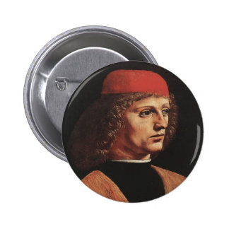 Leonardo da Vinci- Portrait of a Musician Pinback Button