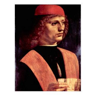 Leonardo da Vinci - Portrait of a musician Postcard