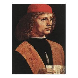 Leonardo da Vinci- Portrait of a Musician Postcard