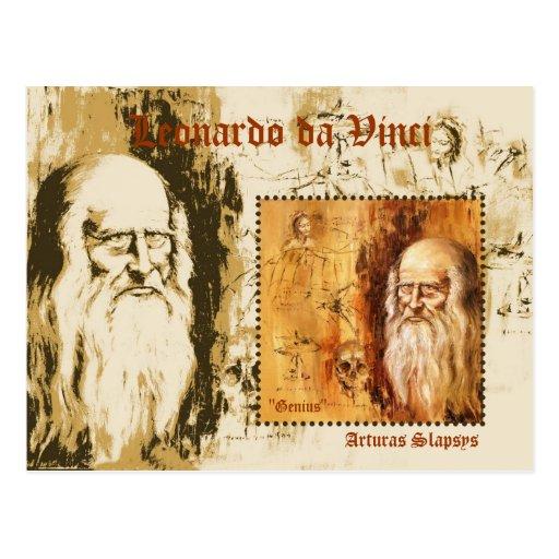 Leonardo da Vinci Postcard