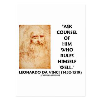Leonardo da Vinci pregunta a consejo que se gobier Postales