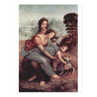 Leonardo da Vinci que pinta circa 1510 Postal