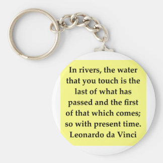 leonardo da vinci quote basic round button keychain