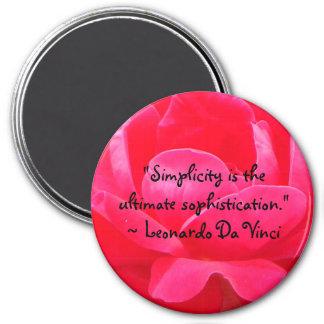 Leonardo Da Vinci Quote Magnet
