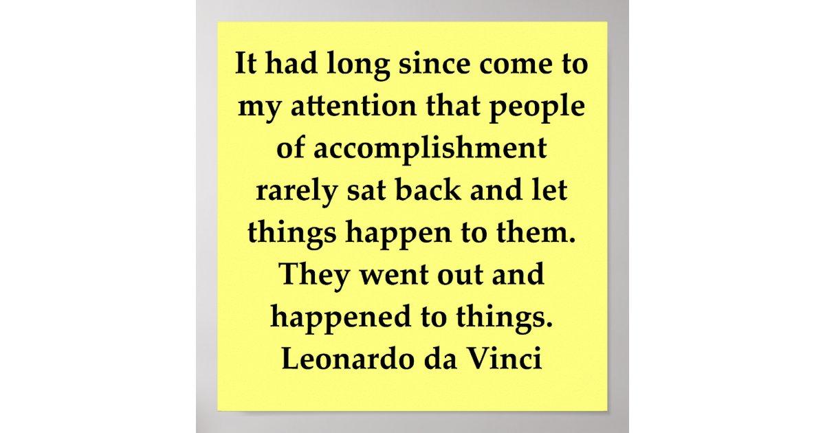 Leonardo Da Vinci Quote Poster Zazzlecom