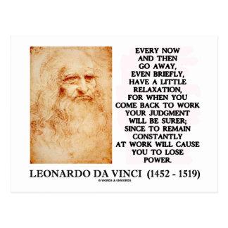 Leonardo da Vinci Relaxation Work Judgment Power Postcard