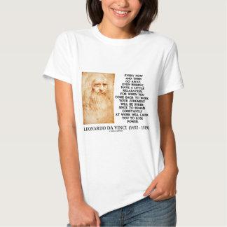 Leonardo da Vinci Relaxation Work Judgment Power Tee Shirt