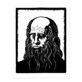 Leonardo da Vinci - retrato Postal