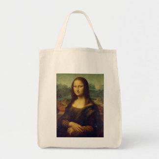 Leonardo da Vinci's Mona Lisa Grocery Tote Bag