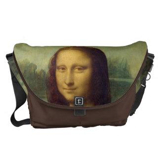 Leonardo da Vinci's Mona Lisa Messenger Bags