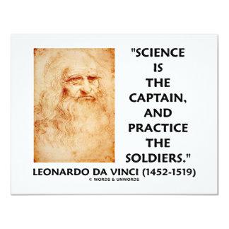 Leonardo da Vinci Science Captain Practice Soldier Card