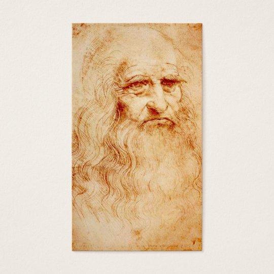 Leonardo Da Vinci Self-Portrait circa 1510-1515 Business Card