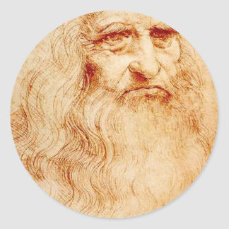 Leonardo Da Vinci Self-Portrait circa 1510-1515 Classic Round Sticker