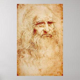 Leonardo Da Vinci - self portrait Poster
