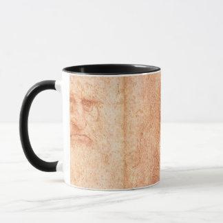 Leonardo da Vinci Self Portrait Red Chalk Mug