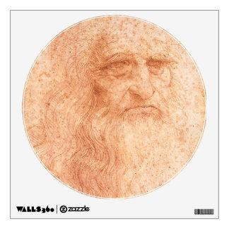 Leonardo da Vinci Self Portrait Red Chalk Wall Sticker