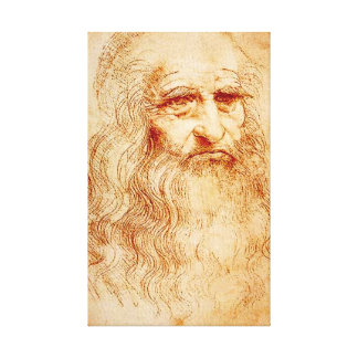 Leonardo da Vinci Sellf Portrait Canvas Print