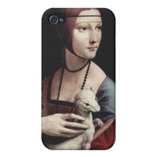 Leonardo da Vinci - señora con un armiño iPhone 4/4S Funda
