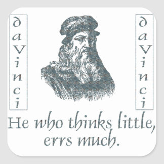 Leonardo da Vinci Square Sticker