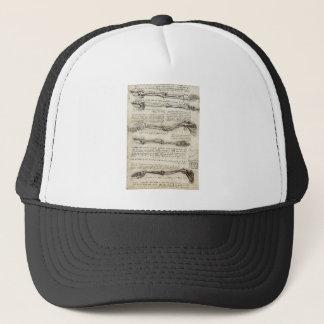 Leonardo da Vinci - Studies of the Arm Artwork Trucker Hat