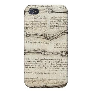 Leonardo Da Vinci - Study of Arm Sketch iPhone 4/4S Cases