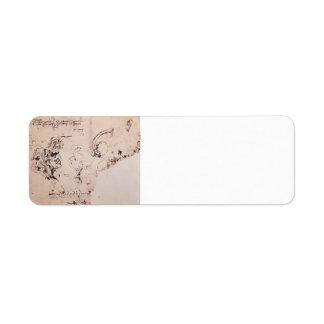 Leonardo da Vinci- Study sheet Custom Return Address Label