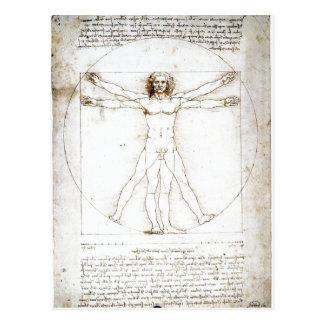 Leonardo da Vinci sumario: Las proporciones de Postal