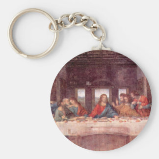 Leonardo da Vinci - The Last Supper Basic Round Button Keychain