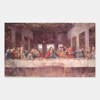 Leonardo da Vinci - The Last Supper Rectangular Sticker