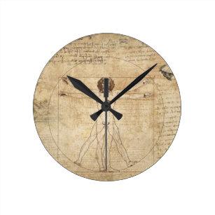 Anatomy Da Vinci Illustration Funny Vitruvian Man 1 Leonardo da Vinci Wall Clock Leonardo Da Vinci Drawing