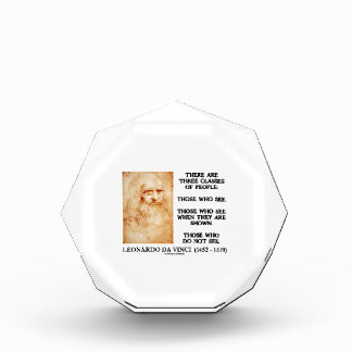 Leonardo da Vinci Three Classes Of People Quote Award