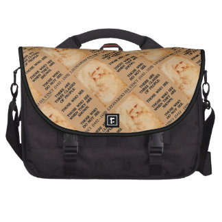 Leonardo da Vinci Three Classes Of People Quote Laptop Commuter Bag